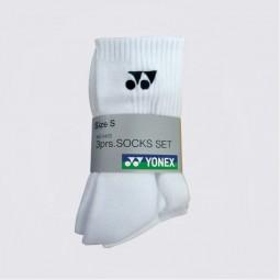 Yonex 3er Socken 8422 (weiß)