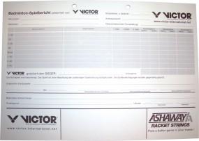Victor Spielberichtsblock