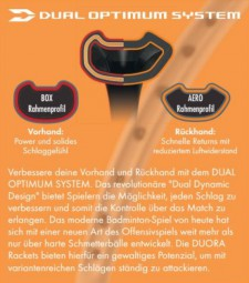 Yonex Duora 55 (Design 2019), besaitet